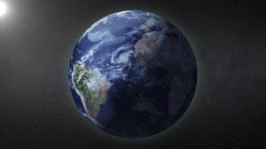 地球のズーム — ストックビデオ
