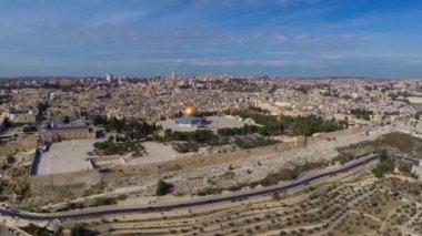 Vuelo de jerusalén oeste — Vídeo de Stock