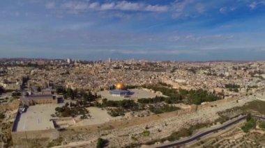 Vôo de Jerusalém oeste — Vídeo stock