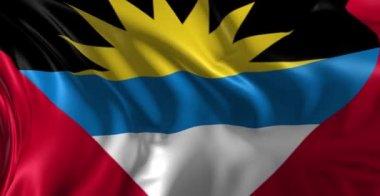 Flag of Antigua — Stock Video