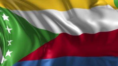 Flag of Comoros — Stock Video