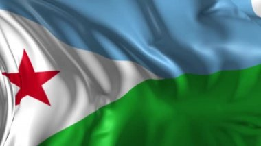 Flag of Djibouty — Stock Video
