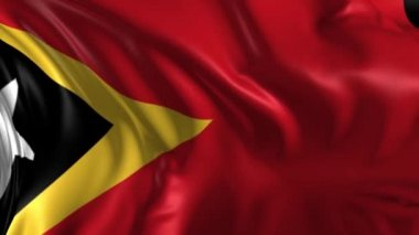 Flag of East Timor — Stock Video