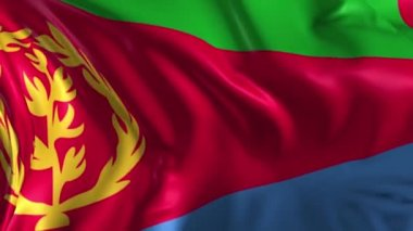 Flag of Eritrea — Stock Video