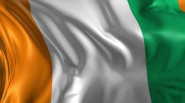 Flag of Ivorie — Stock Video