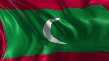 Flag of Maldives — Stock Video