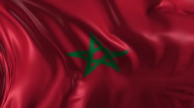 Flag of Morocco — Stock Video