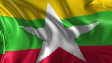 Flag of Myanmar — Stock Video