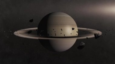 Planet Saturn — Stock Video