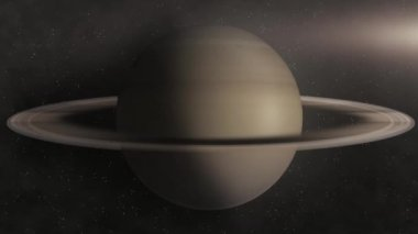 Planet Saturn — Stock Video