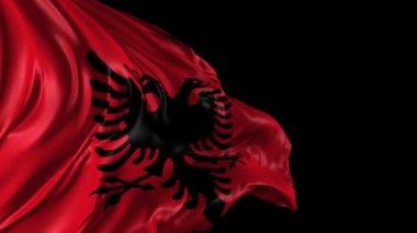 Flag of Albania — Stock Video