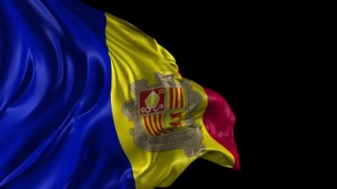 Flag of Andorra — Stock Video
