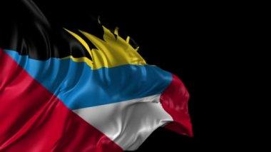 Flag of Antigua and Barbuda — Stock Video