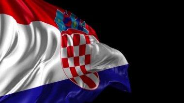 Flag of Croatia — Stock Video