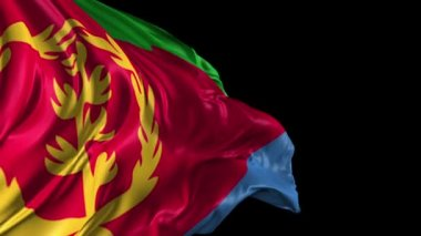 Flag of Eritrea — Stock Video