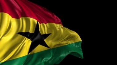 Flag of Ghana — Stock Video