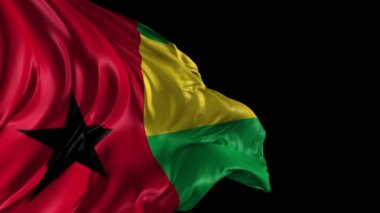 Flag of Guinea Bissau — Stock Video