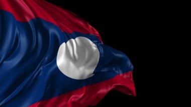 Flag of Laos — Stock Video
