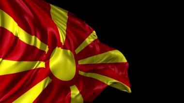 Flag of Macedonia — Stock Video
