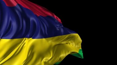 Flag of Mauritius — Stock Video