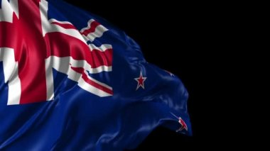 Flag of New Zealand — Stock Video