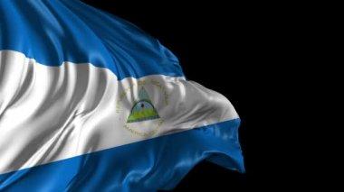 Flag of Nicaragua — Stock Video