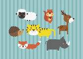 Cute Cartoon Safari Forest Animals Digital Clip Art Clipart Set - For Scrapbooking, Card Making, Invites — Stock Photo