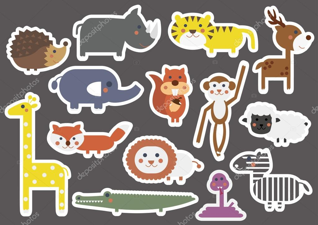 cartoon animal stickers in - photo #28