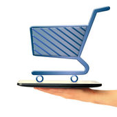 Online shopping image — Stock Photo