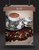 Turkish coffee poster — Stock Photo