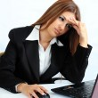 Stressed business woman — Stockfoto