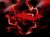 Burning banner — Stock Photo