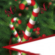 Christmas background with candy cane — Stock Photo