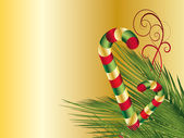 Christmas background with candy cane — Foto Stock