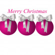 Stock Photo: Christmas balls with bows