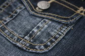 Close-up blue jean with pocket — Stockfoto