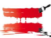 Red paint brush — Stock Photo