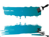 Blue paint brush — Stock Photo