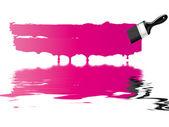 Pink paint brush — Stock Photo