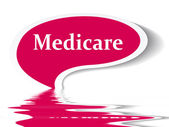 Medicare speech bubble — Stock Photo