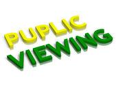 Puplic viewing — Stock Photo