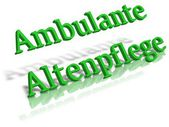 Ambulanter pflegedienst — Foto Stock