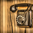 Raw classic telephone — Stock Photo #25516439