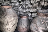 Ancient ceramic pitchers — Stok fotoğraf