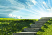 A stair to the sky — Stock Photo
