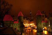 Tallinn nachtleven. — Stockfoto