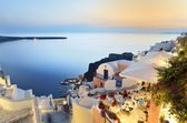 Dinner in Santorini — Stock Photo