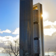 Towers and sun — Stock Photo