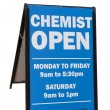 Chemist Sign — Stock Photo