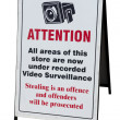 Stock Photo: CCTV warning Sign